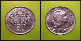 121g KM#577 Portugal - 50 Centavos 1940 (Alpaca)