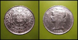 108ai KM#561 Portugal - 50 Centavos 1913 (Prata)
