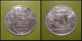 317z KM#586 Portugal - 10 Escudos 1954 (Prata)