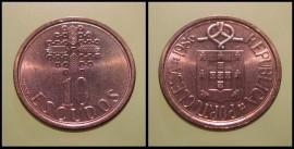 328o KM#633 Portugal - 10 Escudos 1986 (Latão Níquel)