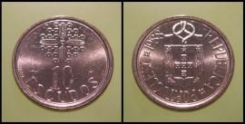 330n KM#633 Portugal - 10 Escudos 1988 (Latão Níquel)