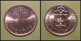 334a KM#633 Portugal - 10 Escudos 1992 (Latão Níquel)