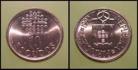 334b KM#633 Portugal - 10 Escudos 1992 (Latão Níquel)