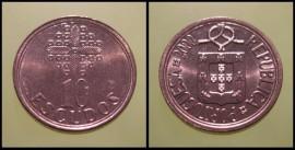 339a KM#633 Portugal - 10 Escudos 2000 (Latão Níquel)