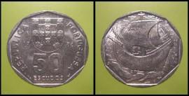 380m KM#636 Portugal - 50 Escudos 1986 (Cupro Níquel)