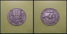 227m KM#580 Portugal - 2,50 Escudos 1951 (Prata)