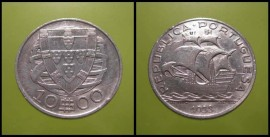 311e KM#582 Portugal - 10 Escudos 1933 (Prata)