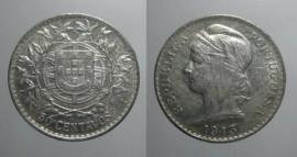 108aa KM#561 Portugal - 50 Centavos 1913 (Prata)