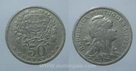 128e KM#577 Portugal - 50 Centavos 1953 (Alpaca)
