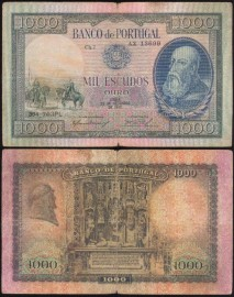 Portugal BP147 Chapa7 - 1000 ESCUDOS 29 Setembro 1942 D. Afonso Henriques