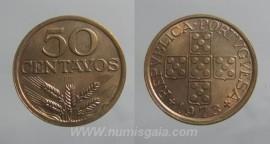 147i KM#596 Portugal - 50 Centavos 1973 (Bronze)