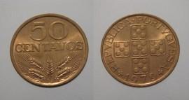 153n KM#596 Portugal - 50 Centavos 1979 (Bronze)