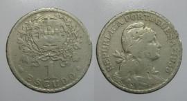 164 KM#578 Portugal - 1 Escudo 1935 (Alpaca)