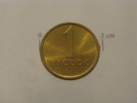 195j KM#614 Portugal - 1 Escudo 1984 (Latão Níquel)