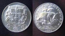 219a KM#580 Portugal - 2,50 Escudos 1940 (Prata)
