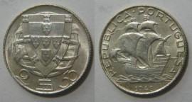 221a KM#580 Portugal – 2,50 Escudos 1943 (Prata)