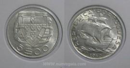 258e KM#581 Portugal - 5 Escudos 1940 (Prata)