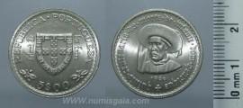 265o KM#587 Portugal - 5 Escudos 1960 Infante D. Henrique (Prata)