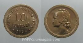 26e KM#573 Portugal - 10 Centavos 1938 (Bronze)