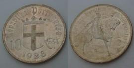 309d KM#579 Portugal - 10 Escudos 1928 Batalha Ourique (Prata)