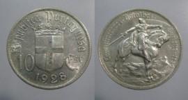 309g KM#579 Portugal - 10 Escudos 1928 Batalha Ourique (Prata)