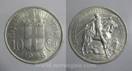 309h KM#579 Portugal - 10 Escudos 1928 Batalha Ourique (Prata)