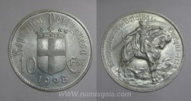 309i KM#579 Portugal - 10 Escudos 1928 Batalha Ourique (Prata)
