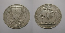 310q KM#582 Portugal - 10 Escudos 1932 (Prata)