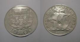 311b KM#582 Portugal - 10 Escudos 1933 (Prata)