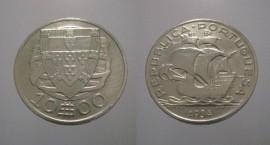 312a KM#582 Portugal - 10 Escudos 1934 (Prata)