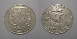 312b KM#582 Portugal - 10 Escudos 1934 (Prata)