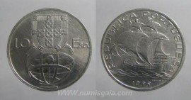 318i KM#586 Portugal - 10 Escudos 1955 (Prata)