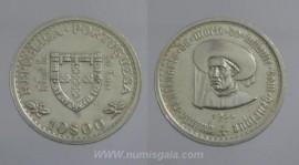 319e KM#588 Portugal - 10 Escudos 1960 Infante D. Henrique (Prata)