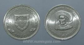 319h KM#588 Portugal - 10 Escudos 1960 Infante D. Henrique (Prata)