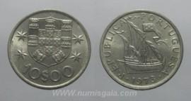 325f KM#600 Portugal - 10 Escudos 1973 Legenda Invertida (Cupro-Níquel)