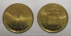 329i KM#633 Portugal - 10 Escudos 1987 (Latão Níquel)