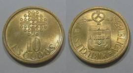 330d KM#633 Portugal - 10 Escudos 1988 (Latão Níquel)