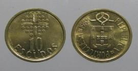 330i KM#633 Portugal - 10 Escudos 1988 (Latão Níquel)