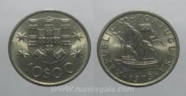 324c KM#600 Portugal - 10 Escudos 1973 Legenda Direita (Cupro-Níquel)