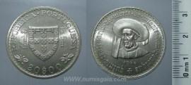 343i KM#589 Portugal - 20 Escudos 1960 Infante D. Henrique (Prata)