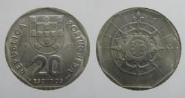 345c KM#634 Portugal - 20 Escudos 1986 (Cupro Níquel)