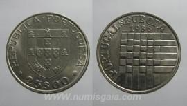 371q KM#635 Portugal - 25 Escudos 1986 Europa CEE (Cupro-Níquel)
