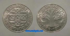 377o KM#601 Portugal - 50 Escudos 1971 Banco de Portugal Leg. Direita (Prata)