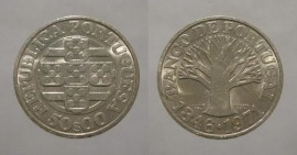 378g KM#601 Portugal - 50 Escudos 1971 Banco de Portugal Leg. Invertida (Prata)