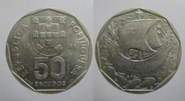 382 KM#636 Portugal - 50 Escudos 1988 (Cupro Níquel)