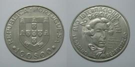 390s KM#625 Portugal - 100 Escudos1984 Ano Internacional Deficiente (Cupro Níquel)