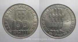 391m KM#628 Portugal - 100 Escudos 1985 Fernando Pessoa (Cupro-Níquel)