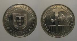 405n KM#651 Portugal - 100 Escudos 1990 Restauração Independência (Cupro Níquel)