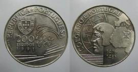 427h KM#658 Portugal - 200 Escudos 1991 Colombo e Portugal (Cupro-Níquel)