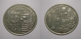 435lk KM#667 Portugal - 200 Escudos 1993 Enviados Daimios kiushu (Cupro-Níquel)